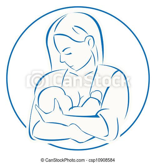 Baby Logo Vector Vector Mother Baby