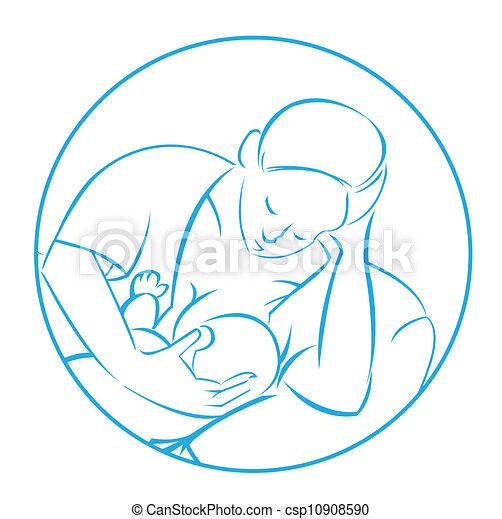 Baby Logo Vector Vector Mom Baby