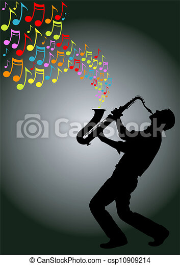 saxophone player - csp10909214