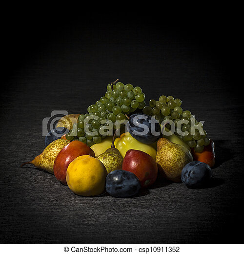 Organic fruits and vegetables - csp10911352