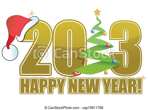 2013 Christmas sign with tree - csp10911768