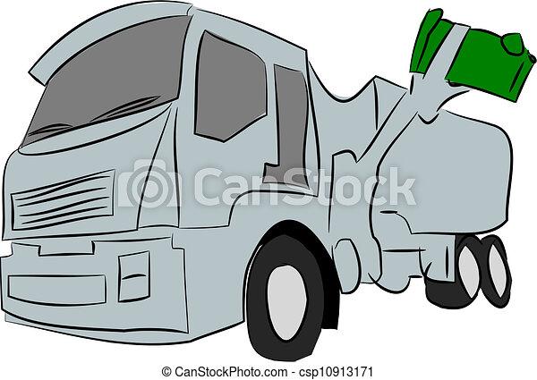 Garbage Truck - csp10913171