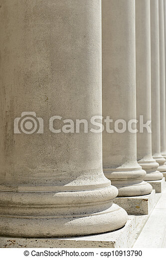Pillars of Law and Justice - csp10913790