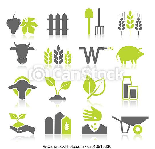 landwirtschaft, Ikone - csp10915336