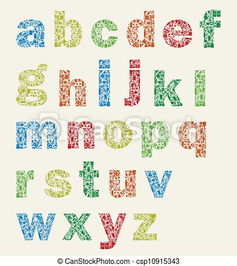 Art alphabet - csp10915343