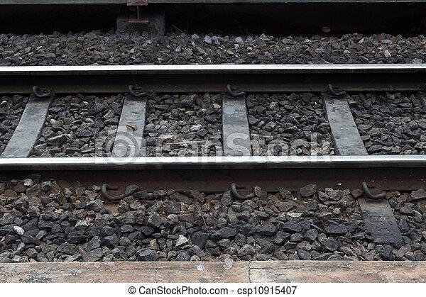 Railway for train transportation - csp10915407