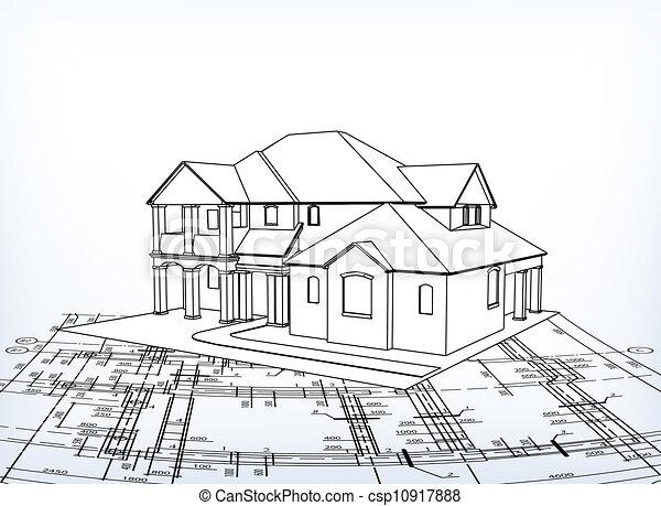 Vetor De Casa Vetorial T Cnico Desenhar 3d Casa
