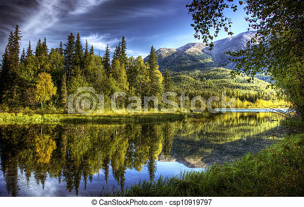 Still Waters in Fall - csp10919797