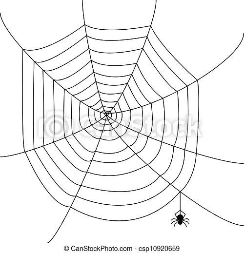 Web Spider Vector Spider Web Csp10920659