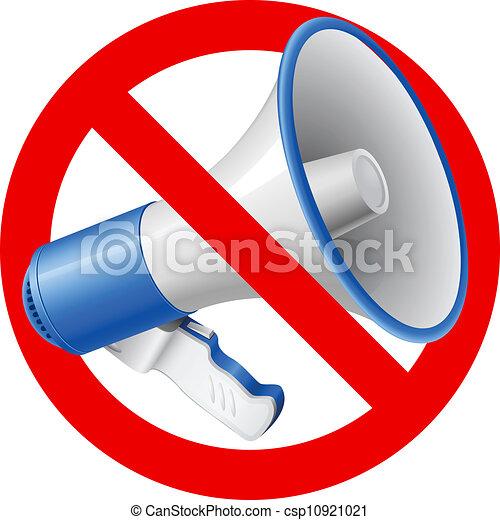 No Audio allowed sign - csp10921021