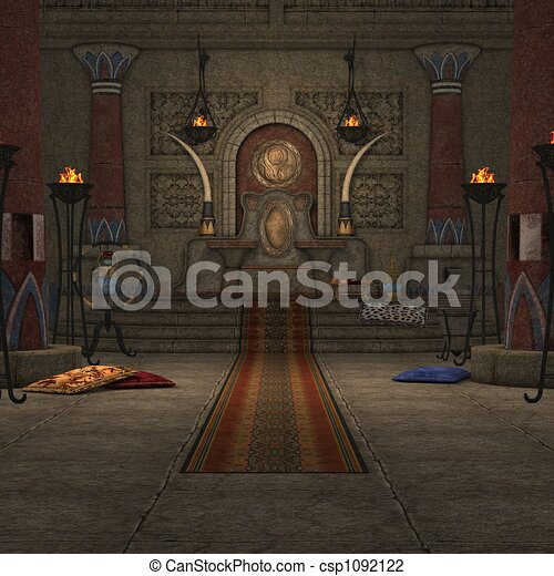 Fantasy Throne Room - csp1092122