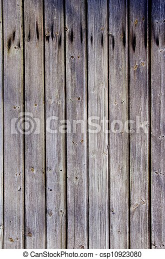 Wooden plank wall background. Rural architecture. - csp10923080