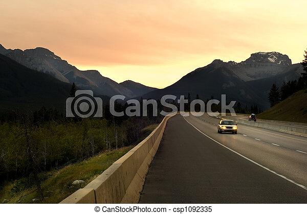 Driving in Rockies - csp1092335