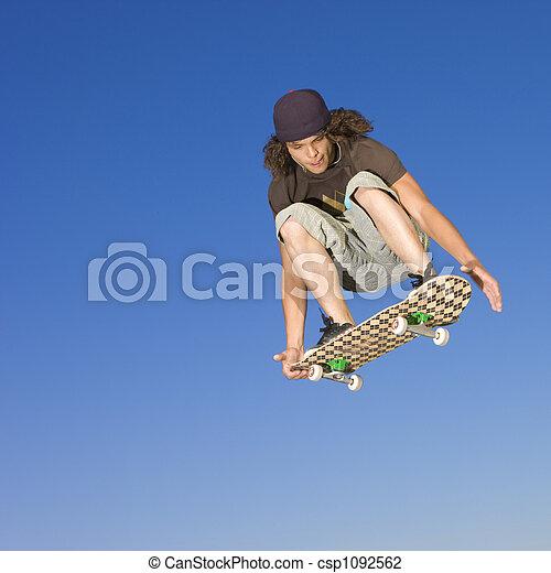 Skateboard tricks - csp1092562