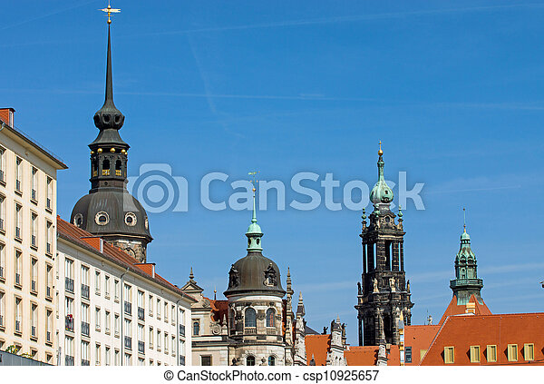 Historic skyline of Dresden - csp10925657