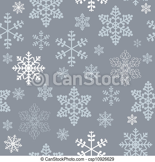 Winter christmas new year seamless pattern /beautiful texture with snowflakes - csp10926629
