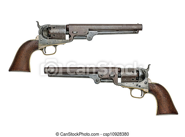 antique american Colt Navy percussion revolver - csp10928380