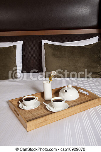 Tray with coffee