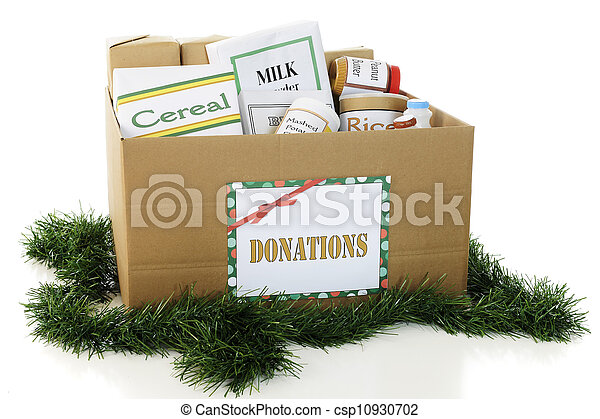 Donated Food for the Holidays - csp10930702