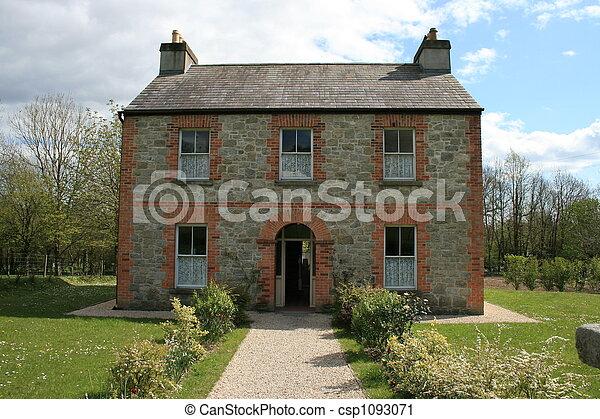 Stock Photography Of Old Irish Farm House Exterior Of