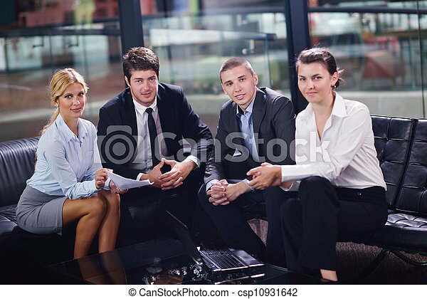business people in a meeting at office - csp10931642