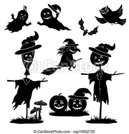 clip art de halloween dessin anim233 ensemble noir