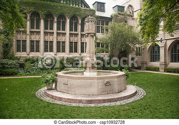 CHICAGO,IL - SEPTEMBER 7, 2009: The Fourth Presbyterian Church of Chicago was founded in February 1871. Picture taken on September 7 , 2009. - csp10932728