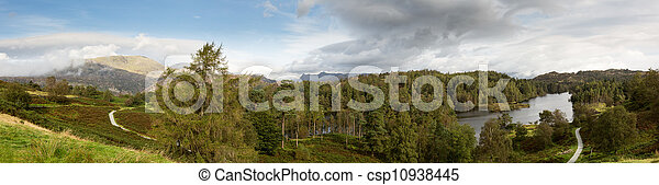 View over Tarn Hows in English Lake District - csp10938445