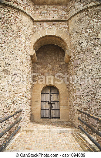 chinchilla castle door - csp1094089