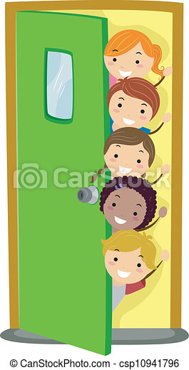 Peeking Kids - csp10941796