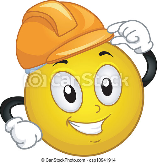 Clip Art Hard Hat Clipart hard hat clip art and stock illustrations 8422 eps smiley illustration of a wearing hard