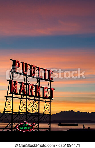 Seattle Pike Place Market - csp1094471