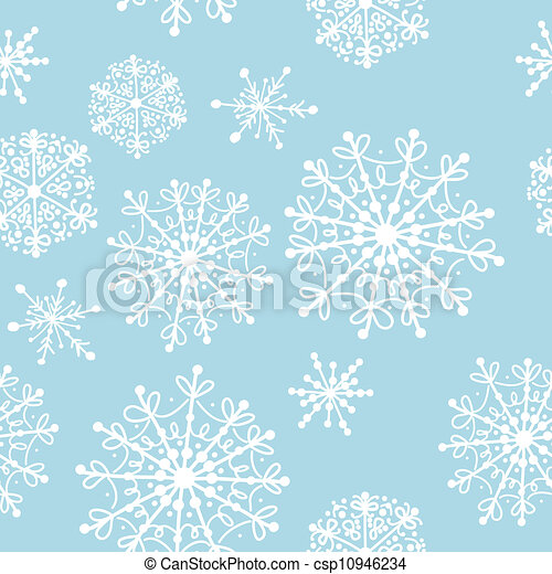 Seamless pattern with winter snowflakes for your design - csp10946234