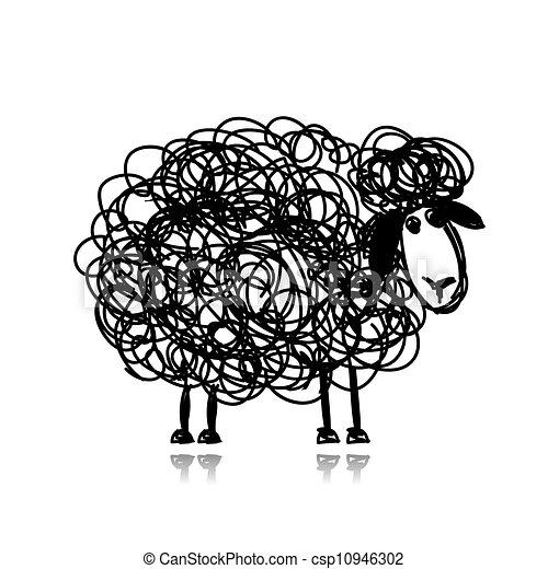 Sheep Funny Funny Black Sheep Sketch For