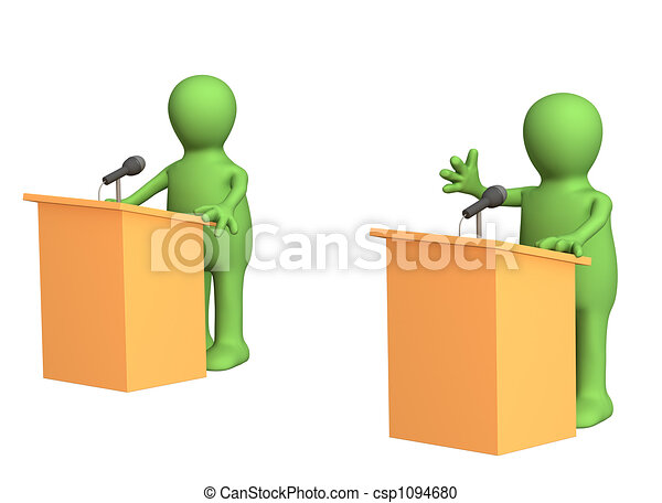 Political debate - csp1094680