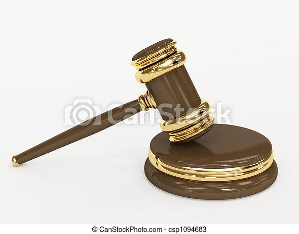 Symbol of justice - judicial 3d gavel - csp1094683