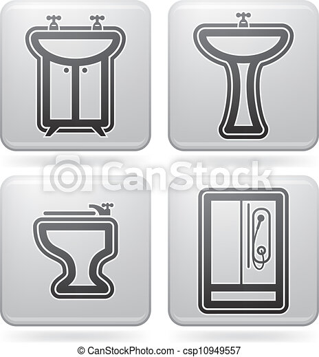 Clipart vectorial de ba o utensilios cuarto de ba o for Utensilios cuarto de bano