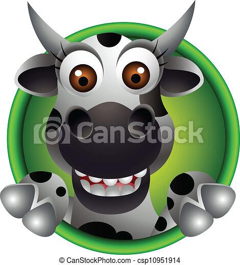 Cute Cow Head Drawing Vector Cute Cow Head Cartoon