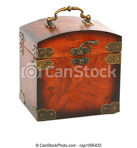 antique wooden trunk - csp1095433