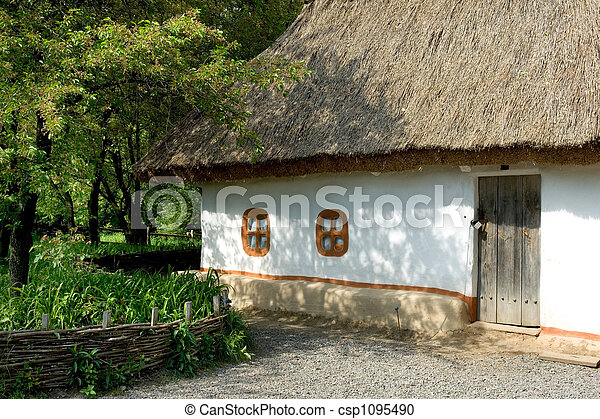 Ukrainian village - csp1095490