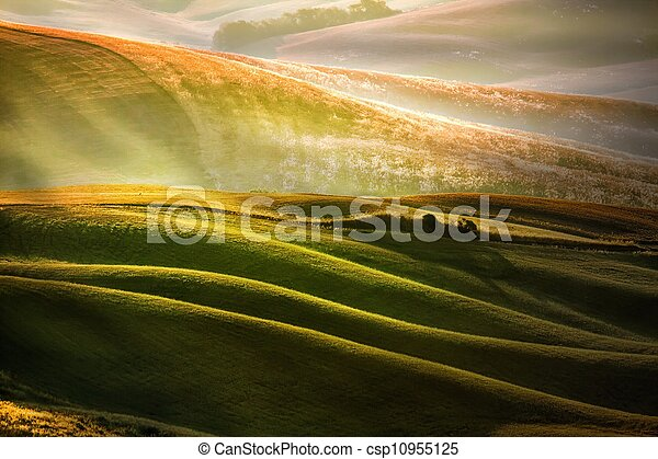 Rural countryside in Italy region of Tuscany - csp10955125