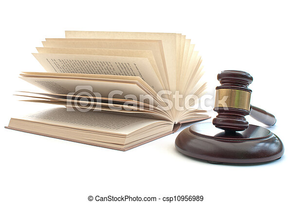 Gavel and law book  - csp10956989