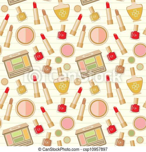 Seamless cosmetics pattern - csp10957897