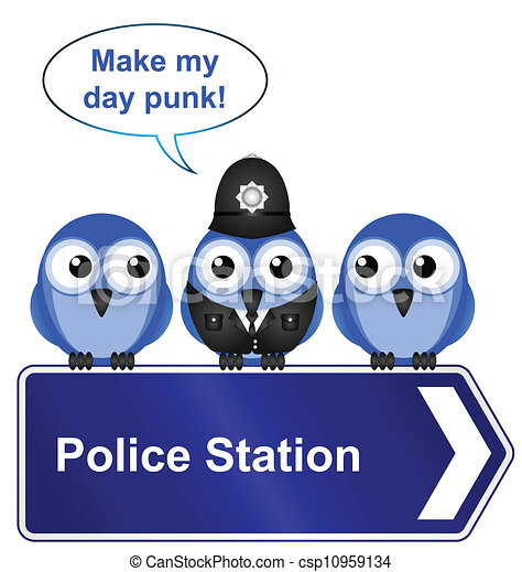 Polizeiwache clipart  Vektoren von station, polizeizeichen - Comical, polizeiwache ...