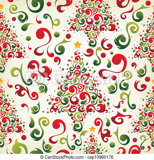 Christmas tree pattern - csp10960176