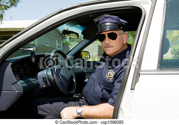 Police Officer On Duty - csp1096085
