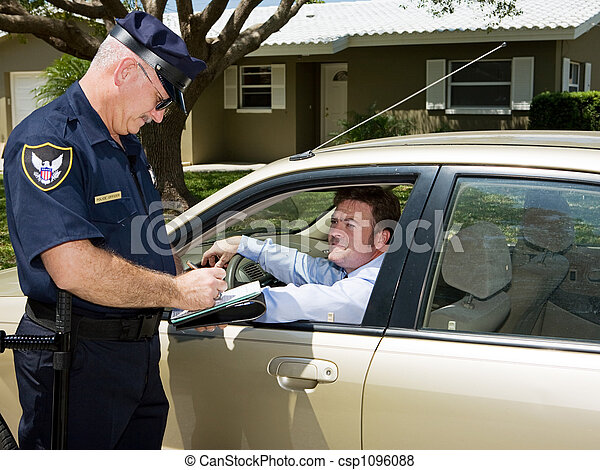 Police - Writing Ticket - csp1096088