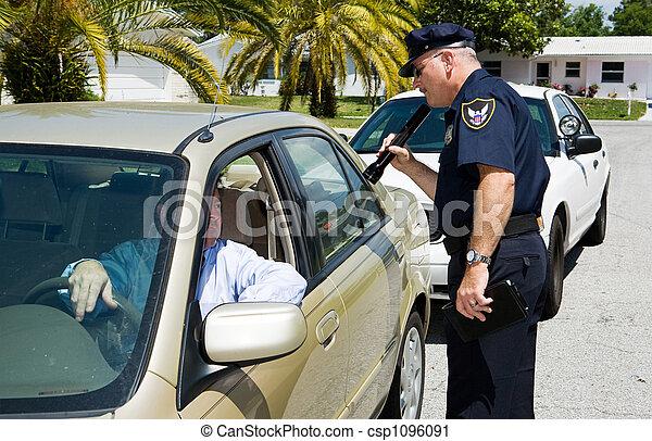 linterna, policía,  -, buscando - csp1096091