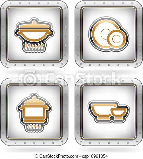 Clipart vectorial de utensilios cocina cocina for Utensilios de cocina logo