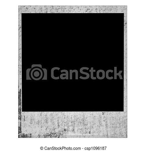 Vintage Old Grunge Polaroid Film Blank - csp1096187